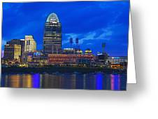 Cincinnati At Sunset Greeting Card