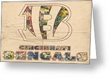 Cincinnati Bengals Logo Vintage Greeting Card