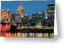 Cincinnati Blue Hour Greeting Card