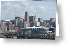 Cincinnati Cityscape Greeting Card
