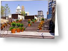 Cincinnati Downtown Central Business District Greeting Card by Paul Velgos