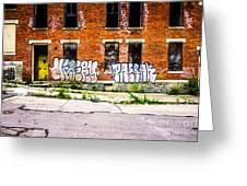 Cincinnati Glencoe Auburn Place Graffiti Photo Greeting Card