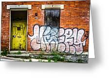 Cincinnati Glencoe Auburn Place Graffiti Picture Greeting Card