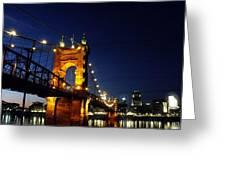 Cincinnati In Lights Greeting Card
