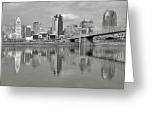 Cincinnati Monochrome Greeting Card