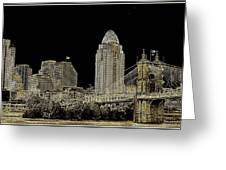 The Queen City Cincinnati Ohio Greeting Card