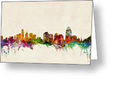 Cincinnati Ohio Skyline Greeting Card