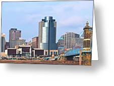 Cincinnati Panoramic Skyline Greeting Card