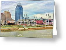 Cincinnati Reds Ballpark 9870 Greeting Card