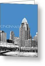 Cincinnati Skyline 1 - Slate Greeting Card