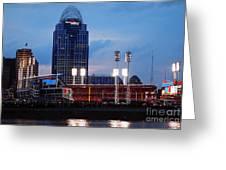 Cincinnati Skyline Greeting Card by Deborah Fay