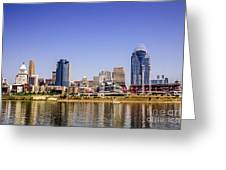 Cincinnati Skyline Riverfront Downtown Office Buildings Greeting Card