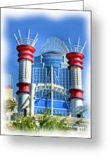 Cincinnati's Riverboat Smokestacks Greeting Card by Mel Steinhauer