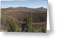 Cinder Cone Crater Greeting Card