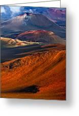 Cinder Cones In Haleakala Greeting Card