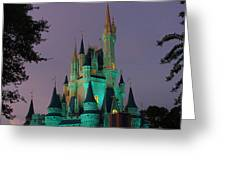 Cinderella Castle At Night  Greeting Card