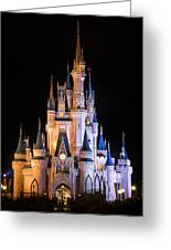 Cinderella's Castle In Magic Kingdom Greeting Card