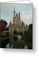 Cinderella's Castle Reflected Greeting Card