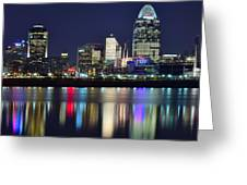 Cinicinnati At Dusk Greeting Card