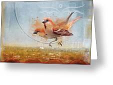 Cinnamon Sparrows Greeting Card