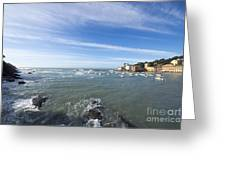 Cinque Terre And The Sea Greeting Card