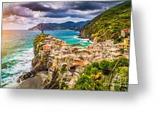 Cinque Terre Sunset Greeting Card