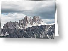 Cinque Torri Area In The Dolomites Greeting Card