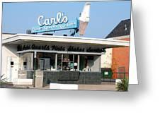 Circa 1940s Carls Ice Cream Greeting Card