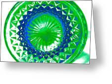 Circle Green Greeting Card