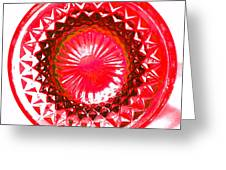 Circle Red Greeting Card