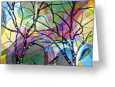 Circle Trees Greeting Card