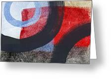 Circles 1 Greeting Card by Linda Woods