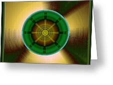 Circles In A Square 9 Greeting Card