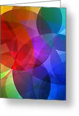 Circles In Colorful Abstract Greeting Card