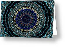 Circles Of Blue Greeting Card