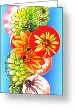 Circles Of Flowers Greeting Card