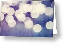 Circles Of Light Greeting Card