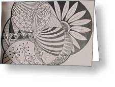 Circles Of Zen Tangle Greeting Card