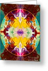 Circling The Unknown Abstract Healing Artwork By Omaste Witkowsk Greeting Card