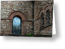 Circular Church Window Greeting Card