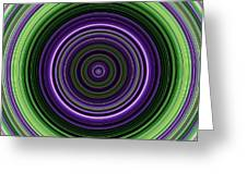 Circular Concentric Stripes In Multiple Colors Greeting Card