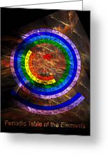 Circular Periodic Table Of The Elements Greeting Card