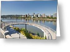 Circular Walkway On Portland Eastbank Esplanade Greeting Card