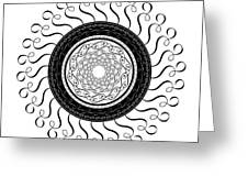 Circularity No. 764 Greeting Card
