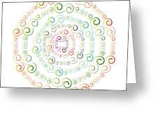 Circularity No. 777 Greeting Card