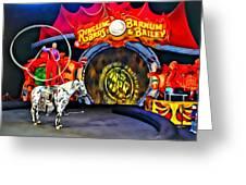 Circus Act Greeting Card