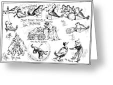 Circus Animals, 1888 Greeting Card