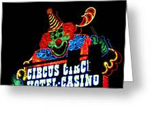 Circus Circus Sign Vegas Greeting Card