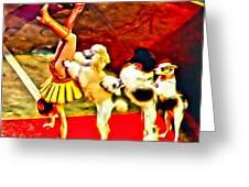 Circus Dog Act Greeting Card