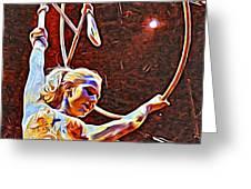 Circus Performer Greeting Card